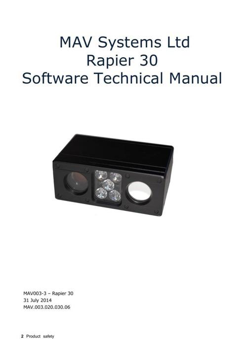 Rapier 30 Software Technical Manual V2.3