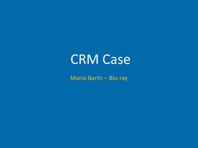 CRM Case // MB