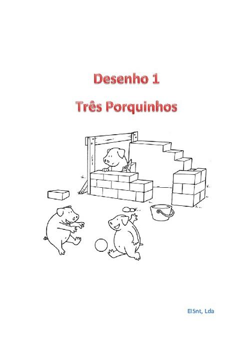 Desenhos 3 Porquinhos