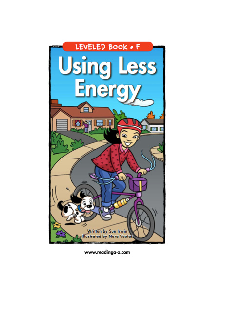 Using Less Energy