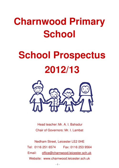 Charnwood Primary School 2013