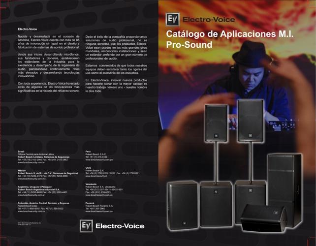 Catalogo Aplicaciones MI Prosound Electro Voice