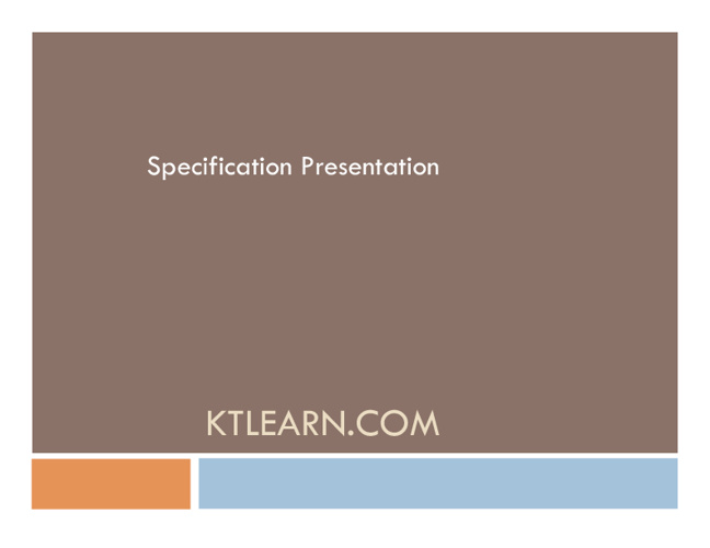 KTLearning.com Specification
