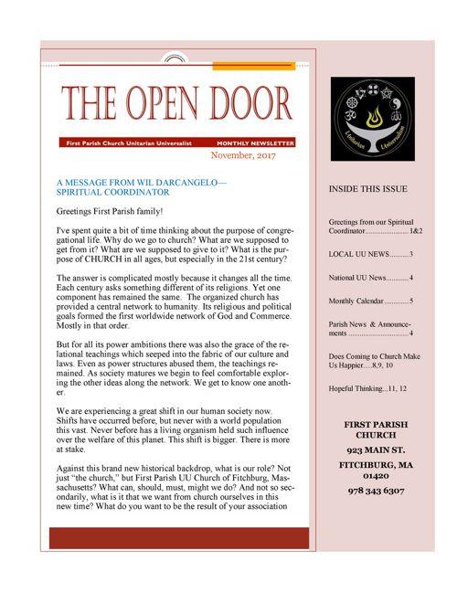 November Open Door