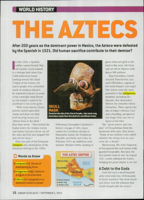 The Aztecs & Mayans