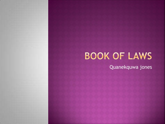 My Book Of Laws
