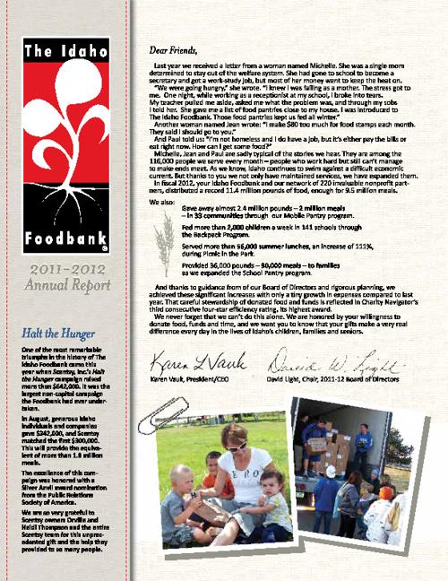 The Idaho Foodbank 2012 Annual Report