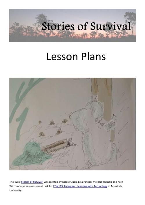 Stories of Survival - Lesson Plans