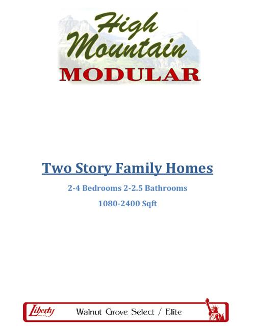 Walnut Grove - 2 Story Home Floor Plans
