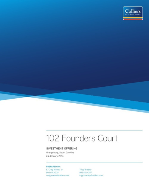 102 Founders Court Investment Offering
