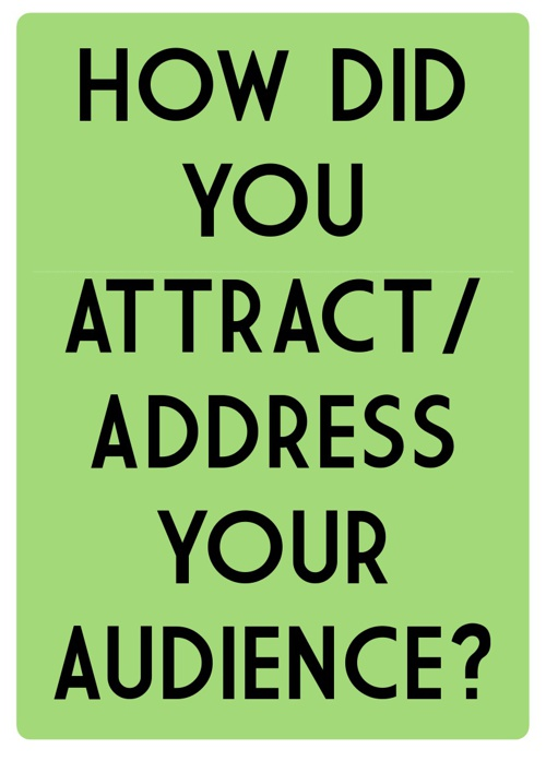 Music Magazine - How did you attract/address your audience?