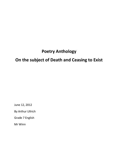 704F Ullrich Arthur Poetry
