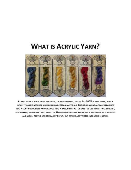 What is Acrylic Yarn