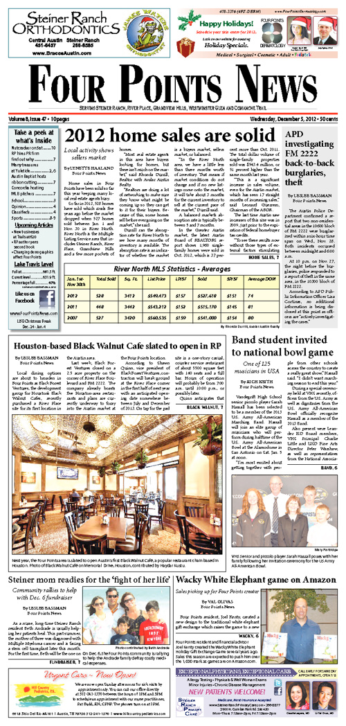 Four Points News December 5th 2012 Issue