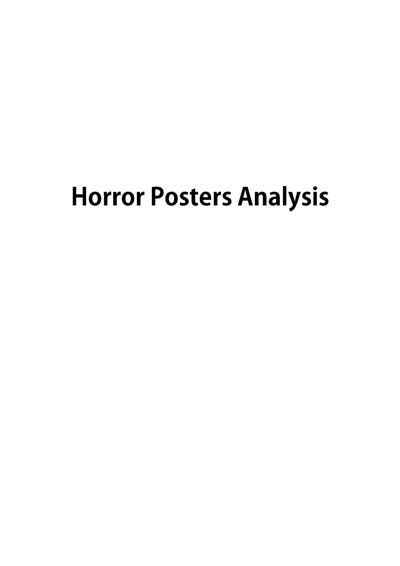 Horror Posters Analysis
