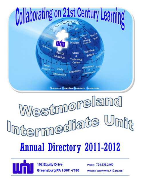 Westmoreland Intermediate Unit 2011-2012 Annual Directory