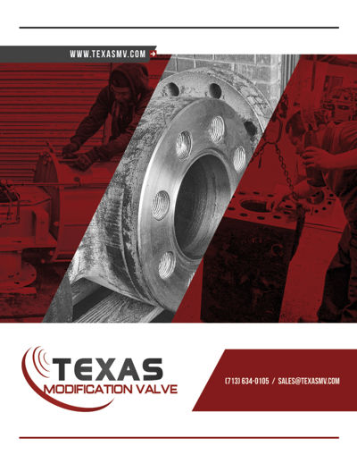 BOOKLET TEXAS MODIFICATION VALVE