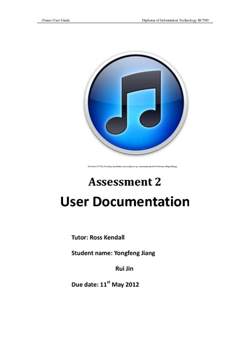 iTunes User Guide