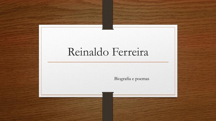 Biografia - Reinaldo Ferreira