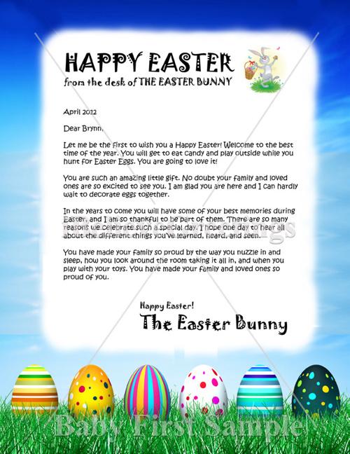 Easter Letter Samples