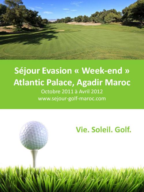 Sejour Golf weekend evasion Agadir au Maroc