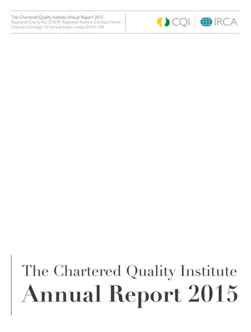 CQI Annual Report 2015