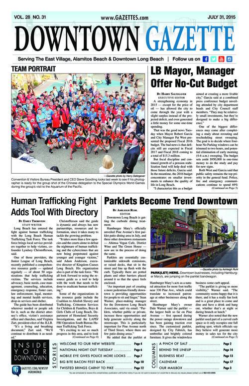 Downtown Gazette  |  July 31, 2015