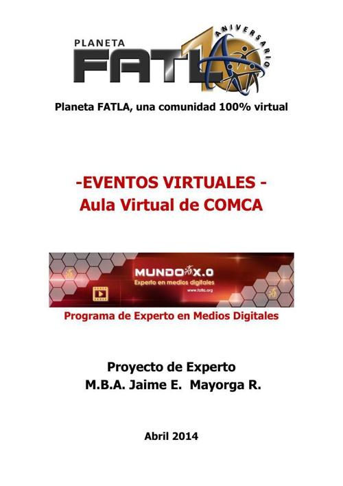 EVENTO DIGITAL Aula Virtual de COMCA