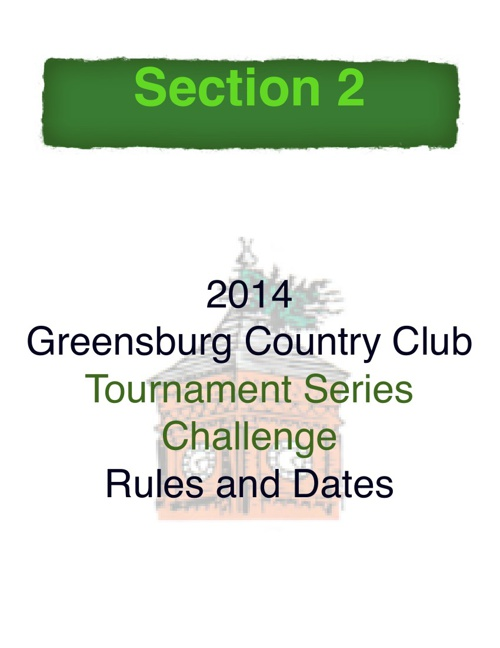 2014 TSC Tournaments