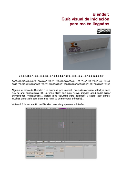 Iniciación a Blender - Joaclint Istgud