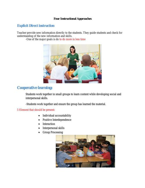 4 Instructional Approaches