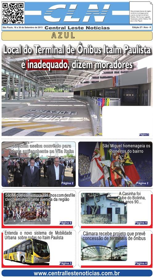 JORNAL CLN - EDIÇÃO 027 SETEMBRO/2013