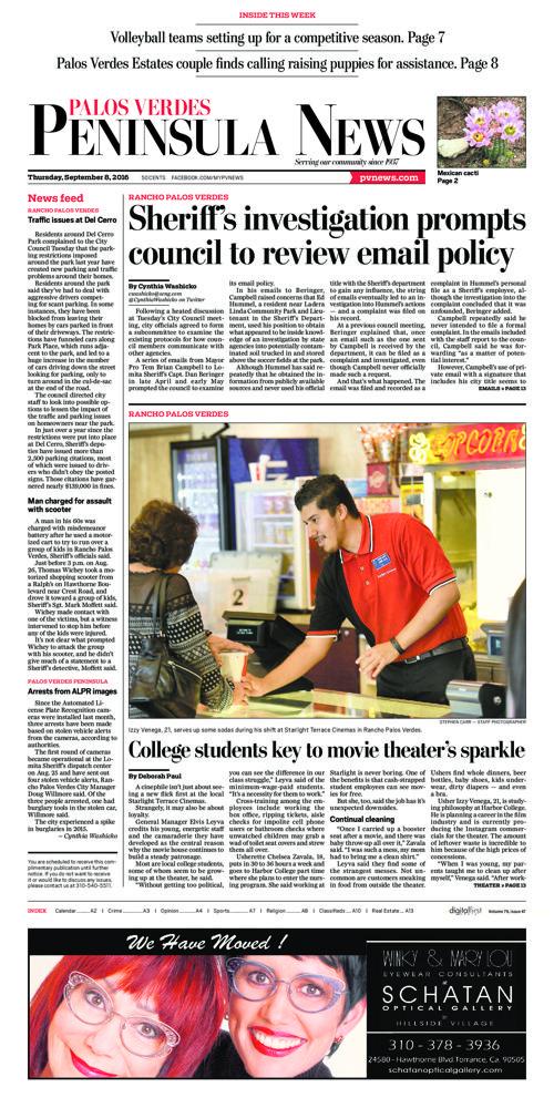 Peninsula News | September 8, 2016