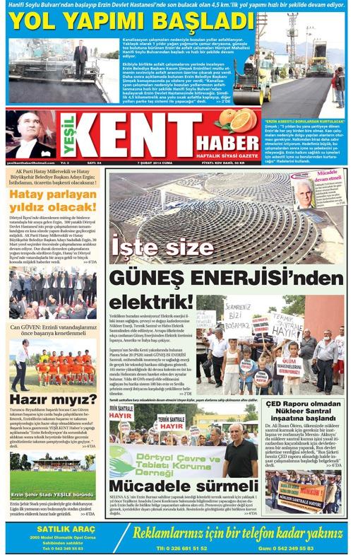 Yeşilkent Haber Gazetesi - Sayı 84
