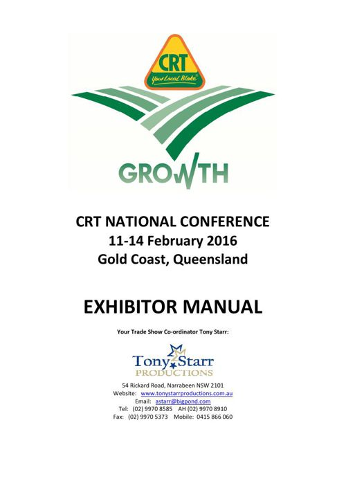 CRT Exhibitor Manual 2016
