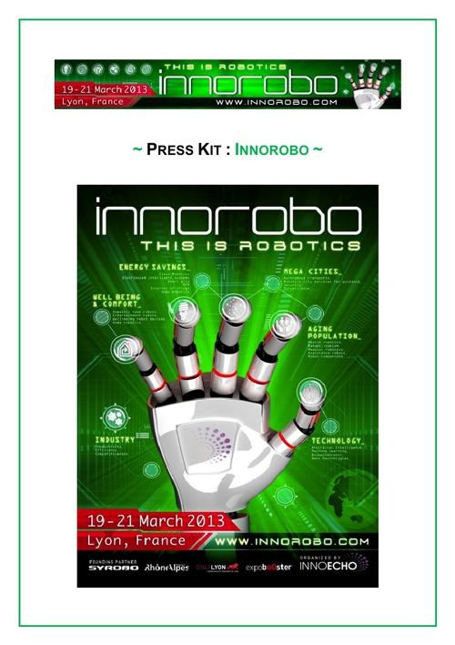 Innorobo robotics 19-21 march 2013 Lyon