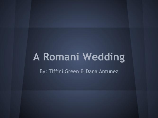 Romani Weddings