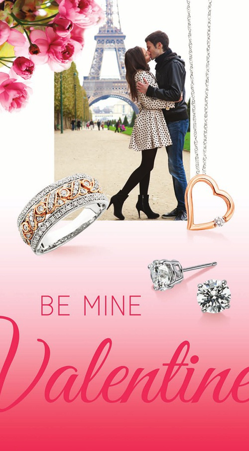 "Plum Gold ""Be Mine, Valentine"" Flyer"