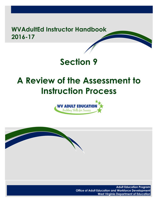 WVAdultEd Instructor Handbook 2015 - 2016 Section 9