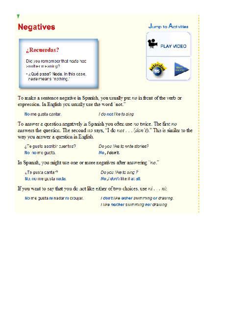 Gramatica - Nivel 1