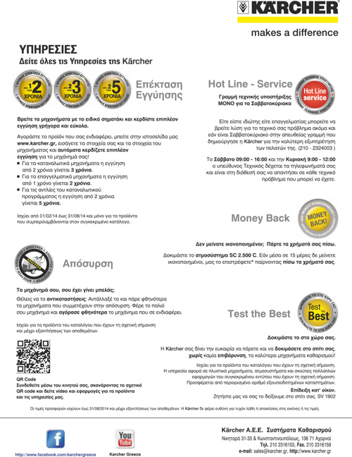 Κατάλογος επαγγελματικών προϊόντων Karcher 2014