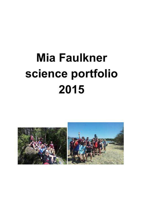 Mia Faulkner science portfolio