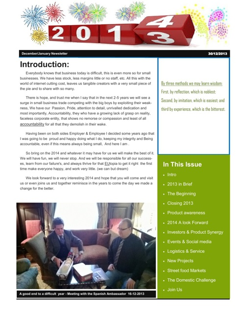 2014 Newsletter The Olive Oil Products Company