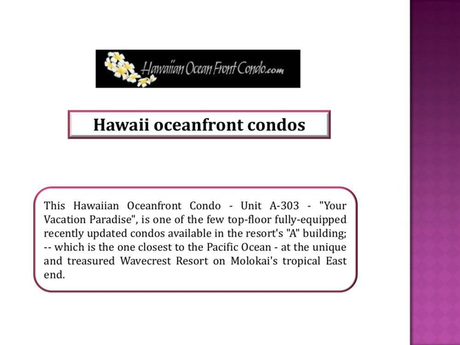 Hawaii oceanfront condos