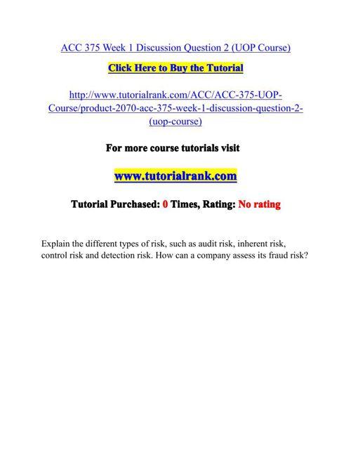 ACC 375 Potential Instructors / tutorialrank.com