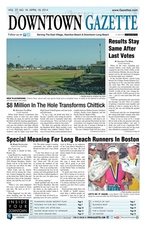 Downtown Gazette     April 18, 2014