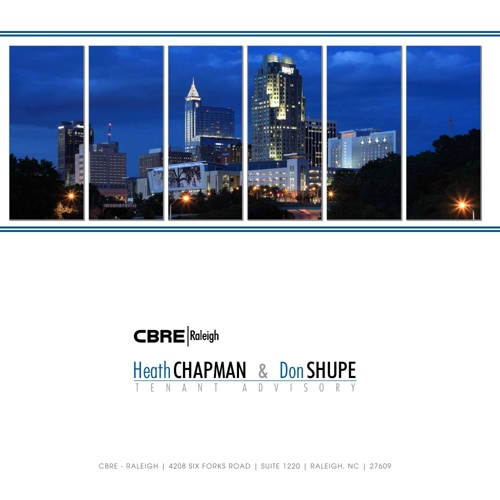 Heath Chapman and Don Shupe - CBRE Tenant Advisory