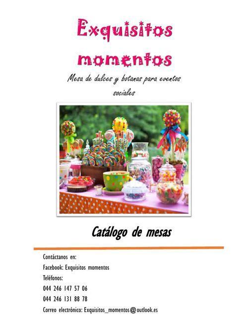 Mesas dulces catálogo