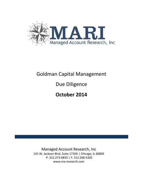 MARI Goldman Due Diligence eBook Oct14