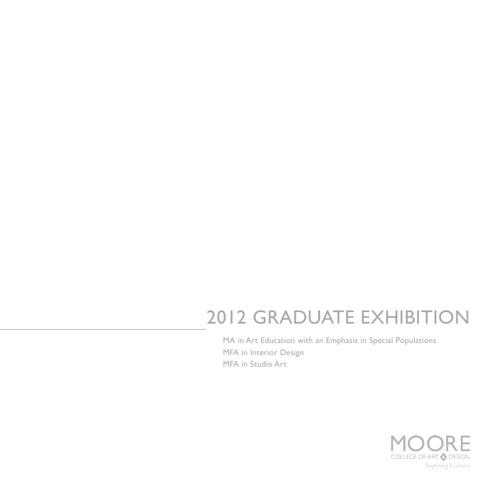 Graduate Exhibition Catalog 2012